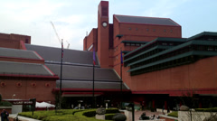 The British Library, London. Editorial Only Stock Footage