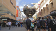"Stock Video Footage of Adelaide downtown - rundle mall ""malls balls"" best known landmark in rundle mall"