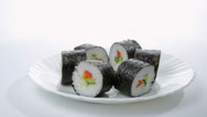 Stock Video Footage of Sushi  isolated on white background