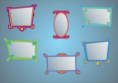 Frames. Vector illustration - stock illustration