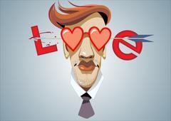 Love. Vector illustration. - stock illustration