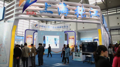 Trade fair in China. Stock Footage