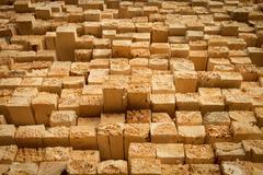 Rough cut lumber - stock photo