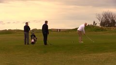 Golf and golfer Stock Footage