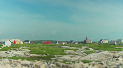 Peggy's Cove Fishing Village - tilt shifted Stock Footage