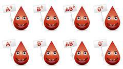 blood type - stock illustration