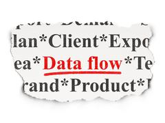 Data concept: Data Flow on Paper background - stock illustration