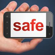 Stock Illustration of Security concept: Safe on smartphone