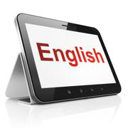 Education concept: English on tablet pc computer Stock Illustration