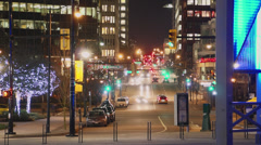 Stock Video Footage of Time-lapse of Vancouver City Streets at Night
