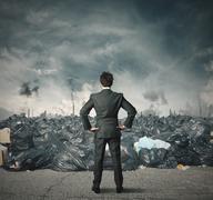 Pollution problem Stock Illustration