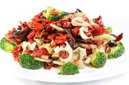 Stock Photo of chinese food: fried vegetables with pepper