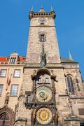 Astronomical clock (orloj) in the old town of prague. Stock Photos