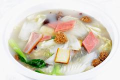 chinese food: vegetable soup - stock photo
