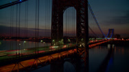 Stock Video Footage of George Washington Bridge Pre-sunrise Timelapse 1