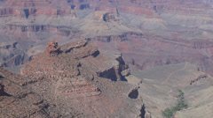 Beautiful Grand Canyon Arizona USA America rock sedimentary fissure historic day - stock footage