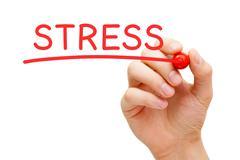Stressi punainen merkki Piirros