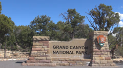 Grand Canyon Gate Entrance National Park Monument Arizona USA America Symbol Day Stock Footage