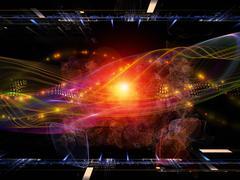 Stock Illustration of Visualization of Digital Sine Wave