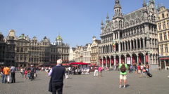 Brussels Grand place historic buildings Stock Footage
