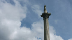 Trafalgar Square tilt down Nelsons Column 4K Stock Footage
