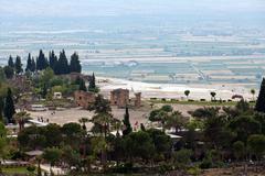 Theater ruins in hieropolis, pamukkale, turkey Stock Photos