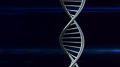 Double helix, DNA with Blue lines lens flare with Future technology style backgr Stock Footage
