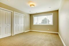 Empty room with closet Stock Photos