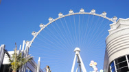 Stock Video Footage of The High Roller Ferris Wheel in Las Vegas 4180
