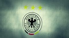 Germany National Football Team Flag Textured Stock Footage