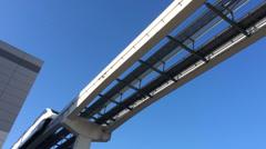 Las Vegas Monorail Passes By 4191 Stock Footage