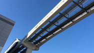 Stock Video Footage of Las Vegas Monorail Passes By 4191