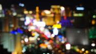 Stock Video Footage of Las Vegas Strip at Night Blurred 4187