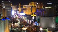 Stock Video Footage of Las Vegas Strip at Night 4186