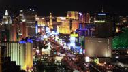 Stock Video Footage of Las Vegas Strip at Night 4188