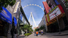 Walking Down The Linq 4183 Stock Footage