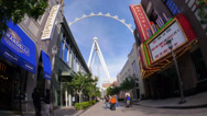 Stock Video Footage of Walking Down The Linq 4183