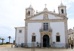 Typical church in faro, algarve, portugal Stock Photos