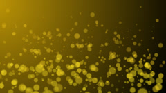Gold Particles - stock footage