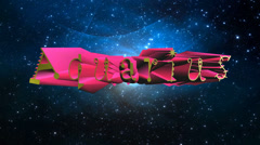 Aquarius 3D title animation for videos HD Stock Footage