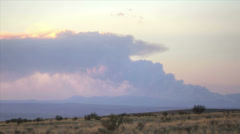 Smoke from the jemez fire in nm Stock Footage