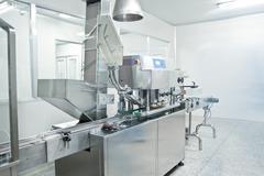 Pharmaceutical companies, pharmaceutical production line Stock Photos