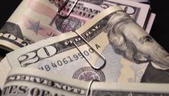 US Dollar bills 1080/25P Stock Footage