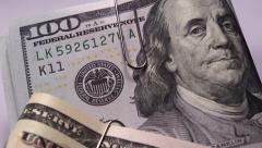 Yhdysvaltain Raha Yhdysvaltain dollarin seteleitä 1080/30p Arkistovideo