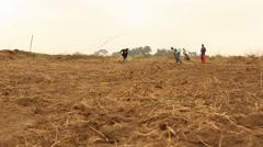 Farm working soil dolly - stock footage