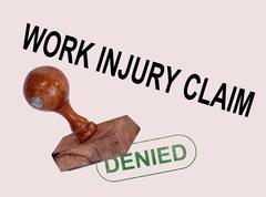 work injury claim - stock illustration