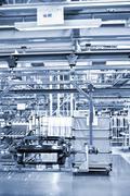 modern car production line - stock photo