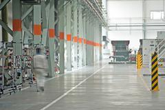 Modern car production line Stock Photos