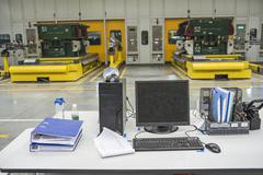 modern car production line - stock photo