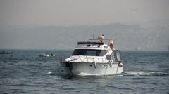 Istanbul Ferries in bosphorus in Turkey Stock Footage